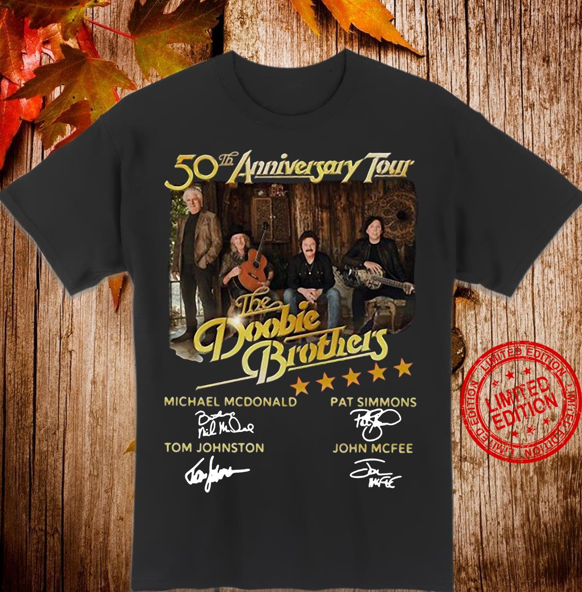 50th anniversary tour The Doobie Brothers signatures shirt