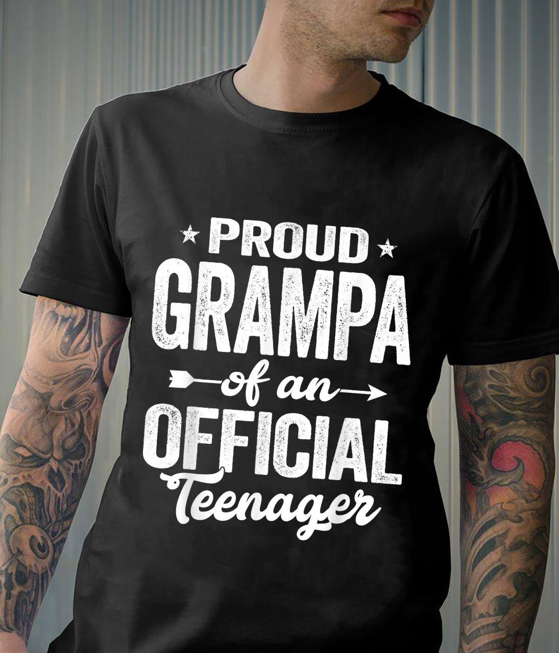 Proud Grampa Officialnager 13 Years Old 13th Birthday Shirt