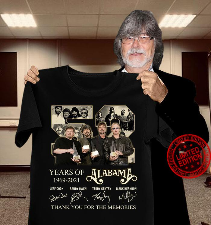 Years Of 1969 2021 Alabama Thank You For The Memories Shirt